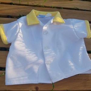 Vintage Yellow and White Little Boys Shirt